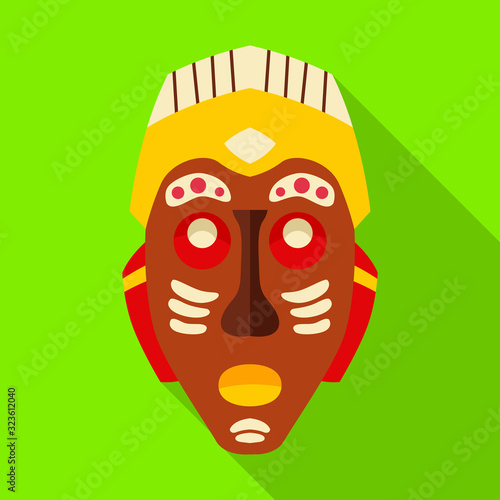 Tribal african mask vector icon Canvas Print