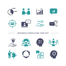 BUSINESS CONSULTING ICON SET