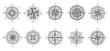 Wind Rose Compass. Vintage Mar...