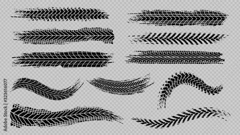 Fotografie, Obraz Tire trace track