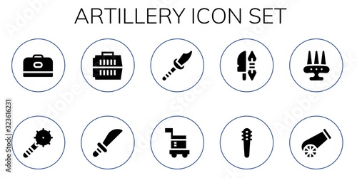 artillery icon set Canvas Print