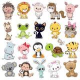 Fototapeta Fototapety na ścianę do pokoju dziecięcego - Set of Cute Animals