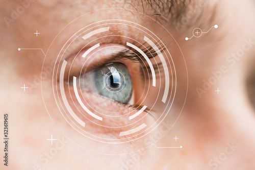 Fotografie, Obraz Eye monitoring and treatment in medical