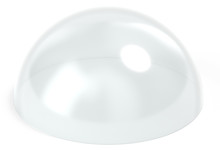 Dome Glass Isolated 3d Rendering