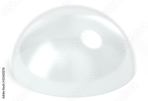 Fotografija Dome glass isolated 3d rendering