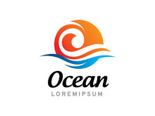 Ocean Logo Template Design, Ic...