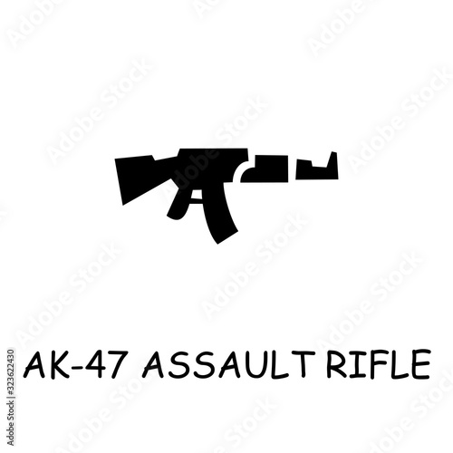 Photo AK-47 assault rifle flat vector icon