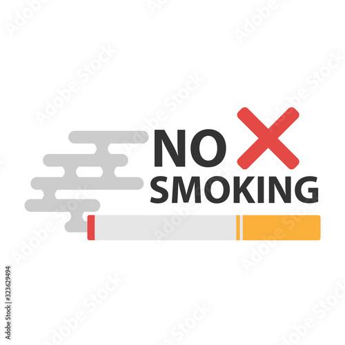 No smoking sign. No smoke icon. Stop smoking symbol. Canvas Print