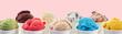 canvas print picture - Large assortment of artisanal Italian ice cream