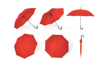 Red Umbrellas From Different S...