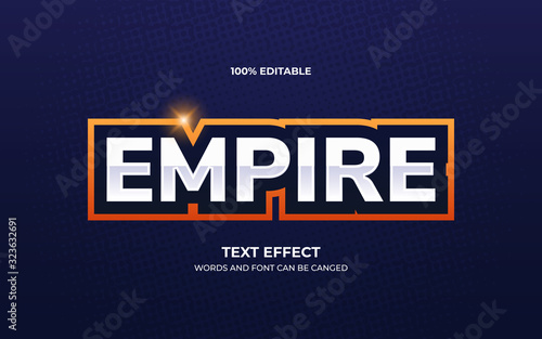 Fotografie, Tablou Esport team logo text effect