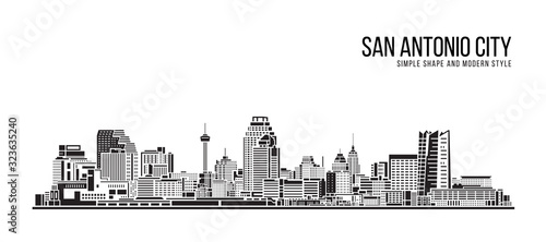 Cityscape Building Abstract Simple shape and modern style art Vector design - Sa Fotobehang