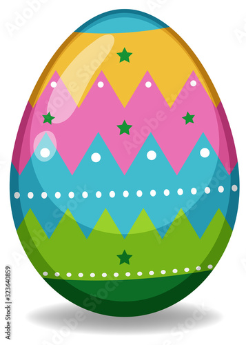 Easter theme with decorated egg in colorful patterns - 323640859