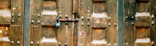 Old Wooden Carved Door With A ...