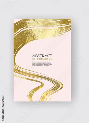Cover product catalog. Business card and banner. Brush strokes in gentle pastel colors on a white background. Wall mural