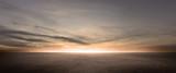 Dark Floor Background Beautiful Clouds Sunset Night Sky Horizon Scene - 323646800