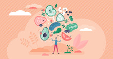 Flexitarian Food Culture Movement, Flat Tiny Person Vector Illustration