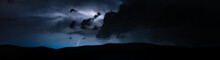 Storm Raging In Mountains With Litghtning And Thunder