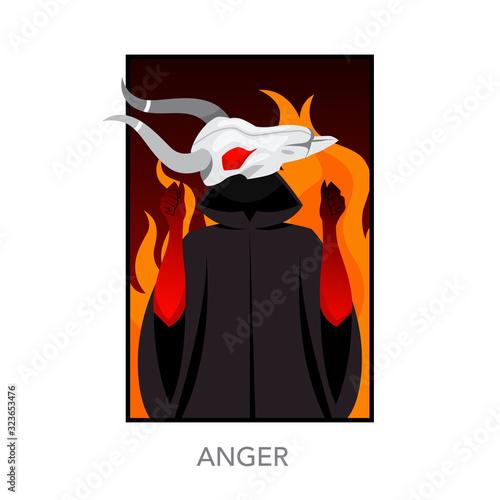 Slika na platnu Seven deadly sins concept. Christian bible character