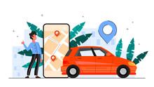 Car Sharing Service Concept. I...