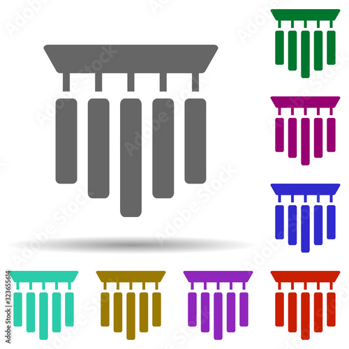 Chime in multi color style icon Fototapeta