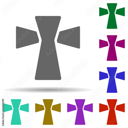 Fotografering Cross in multi color style icon