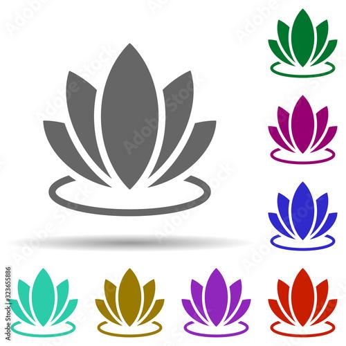 Fotografija Lotus in multi color style icon