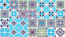 Blue Seameless Artistic Tile C...