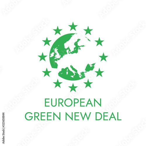 Photo European green new deal vecteur