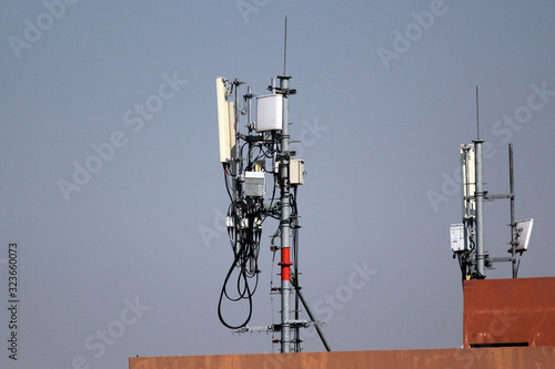 Photo 3G, 4G and 5G cellular antennas