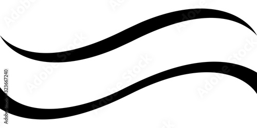 Fototapeta Curved calligraphic line strip, vector, ribbon like road element of calligraphy gracefully curved line obraz