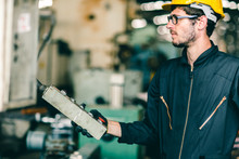 Factory Worker Man Intend To O...