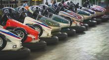 Bumper Cars In The City Amusem...