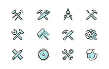 Tools Icon Set. Industry, Buil...