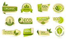 Organic Food Labels, Eco And Bio Natural Products