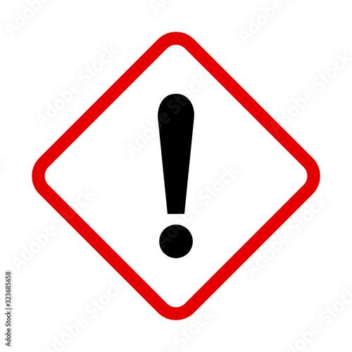 Photo znak ostrzeżenie