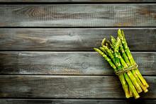 Bunch Of Asparagus Steams On D...
