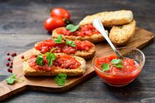 Italian Bruschetta With Tomato...