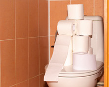 Toilet Rolls On The Toilet