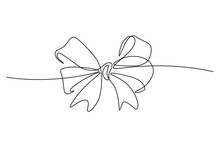 Gift Ribbon Bow In Continuous ...