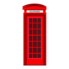 Picture Of Red Phone Booth On ...