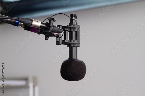 Photo Microphone Boom in Sitcom Studio Set