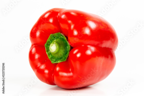 red capsicum fruit illustrating a healthy lifestyle isolated on white background Fototapet