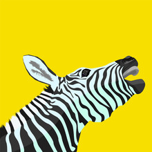 Zebra Vector Illustration Pop ...