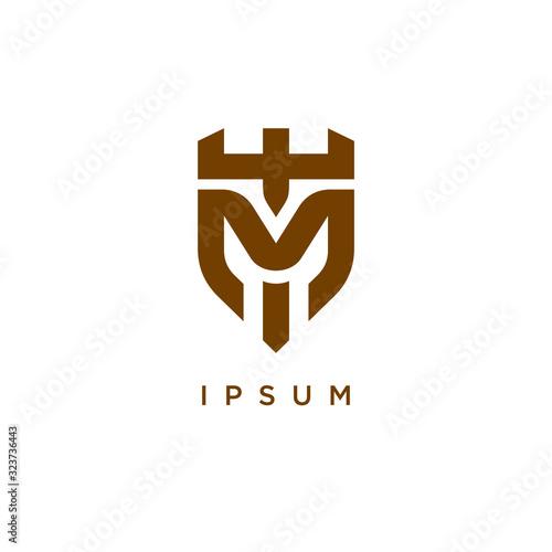 Fototapeta M T TM MT logo letter logotype icon font monogram
