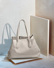 White Leather Handbag Or Tote