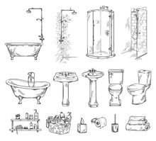 Set Of Bathroom Objects: Batht...