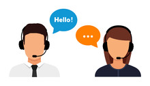 Call Center Operator Avatar Flat Icon