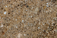 Background Texture Of Conglomerate Stone With Many Pores And Holes