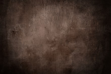 Grunge Brown Background Or Texture With Dark Vignette Borders